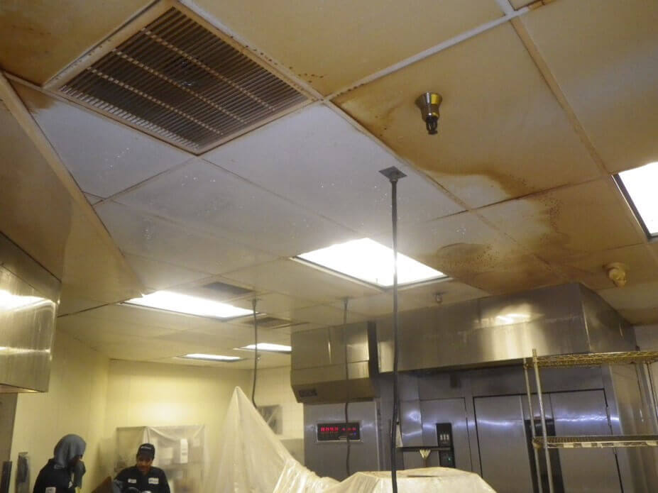 Kitchen Ceiling Cleaning & Restoration