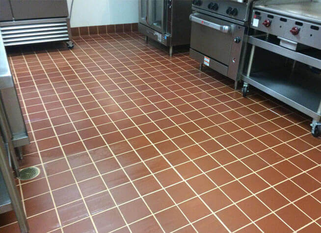 Kitchen Floor & Grout Deep Cleaning